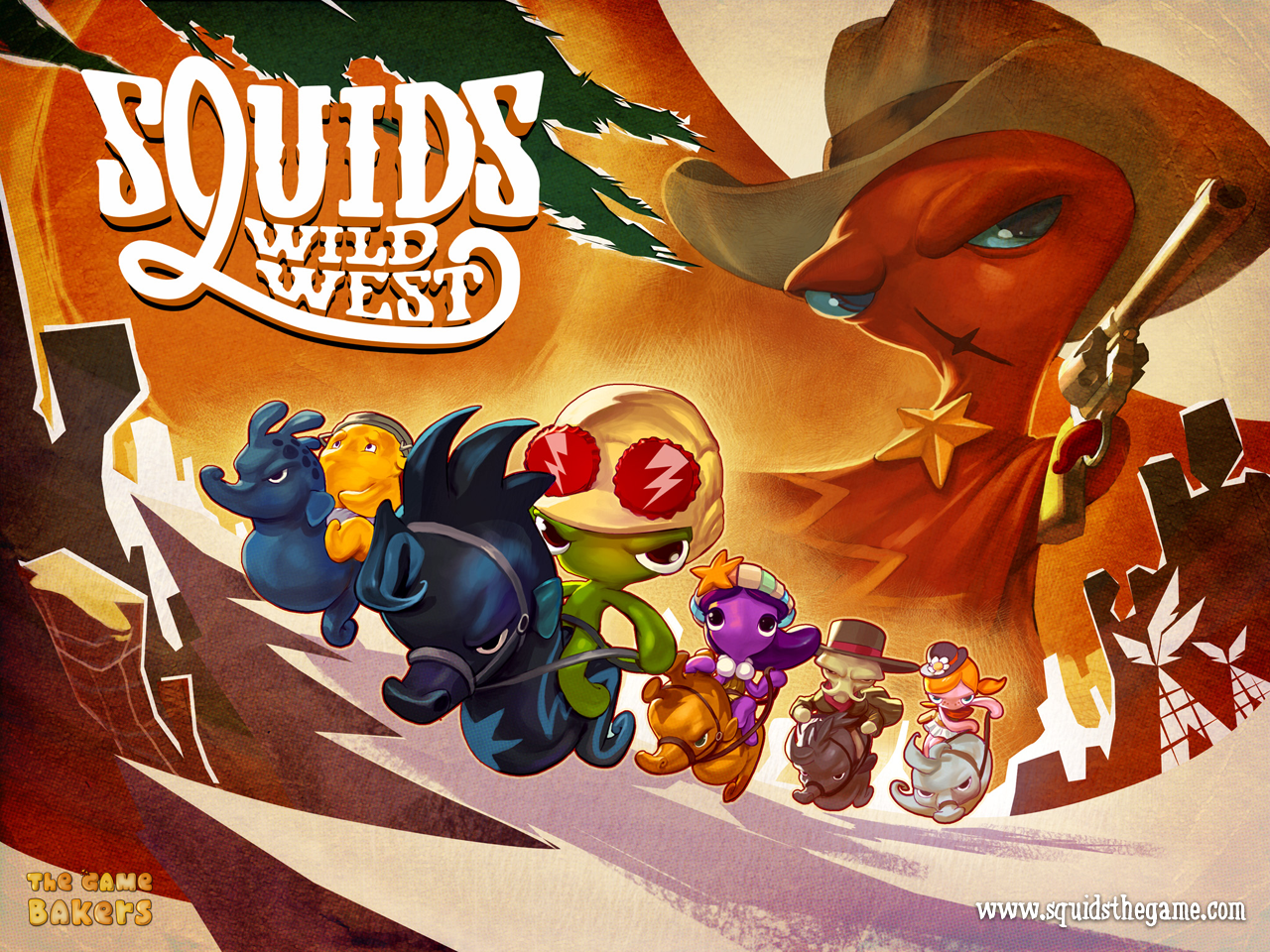 SQUIDS Wild West Artwork